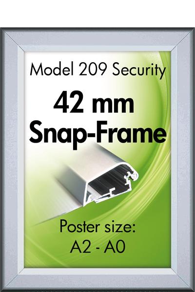 Security frame, væg, 42 mm