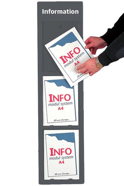 Info Module Board 3 x A4, grey