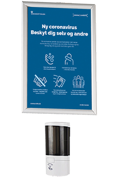 Hand Dispenser 500 ml + Frame, Wall set