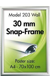 Alu Snap-Frame, væg, 30 mm