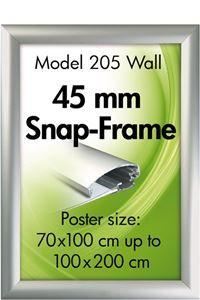 Alu Snap-Frame, væg, 45 mm
