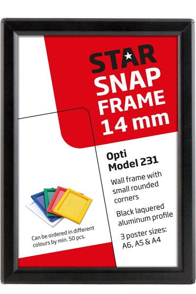 Opti Snap-Frame 14 mm sort
