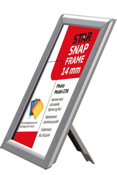 Photo Snap-Frame 14 mm med bagstøtte