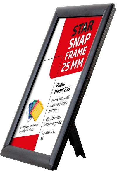 Photo Snap-frame, 25 mm med bagstøtte