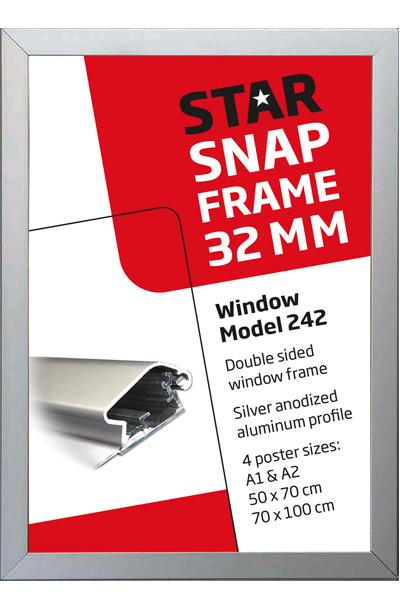 Dobbeltsidet vinduesramme 32 mm