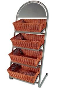 Shop Display with 4 square baskets