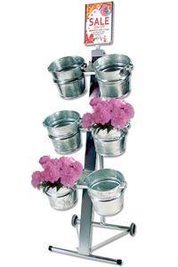 Shop Display with 6 buckets