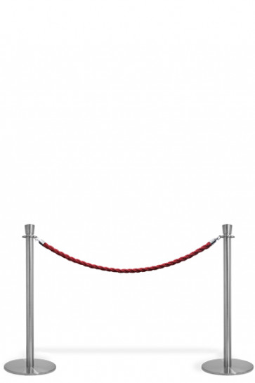 Crowd Control System, 2 poles with red rope