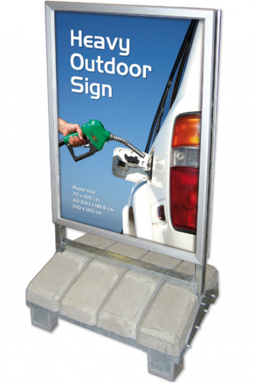 Heavy Outdoor Sign 100x140 cm. Med 42 mm, Security Profil