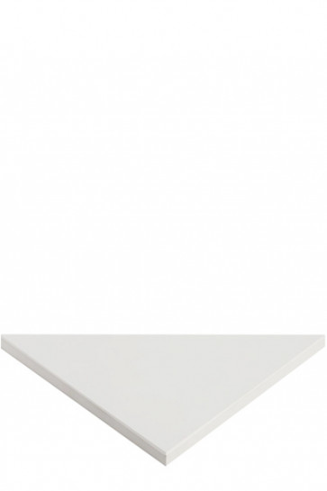 CROWN Truss Counter top plate, 95x95cm Triangle - White