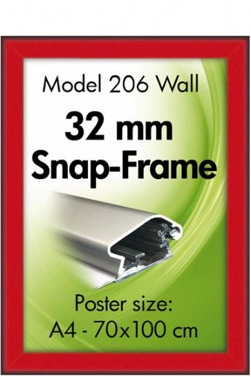 ALU SNAP FRAME 32mm (G) 50x70cm rød