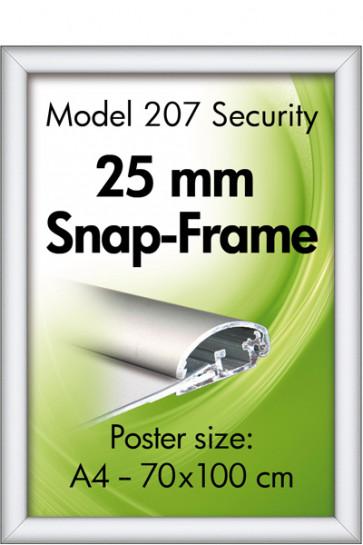 SECURITY FRAME 25mm (G) A4 alu