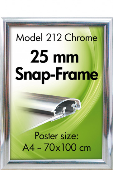 ALU SNAP-FRAME 25mm (G) A3 chrome