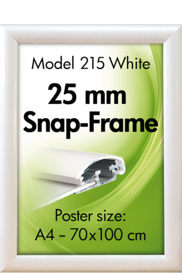ALU SNAP-FRAME 25mm (G) A4 RAL9003
