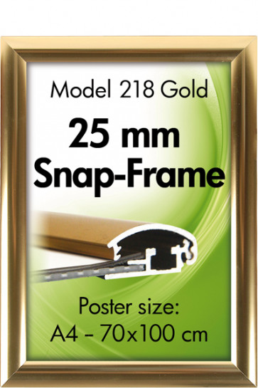 ALU SNAP FRAME 25mm (G) A2 golden anodized - blank