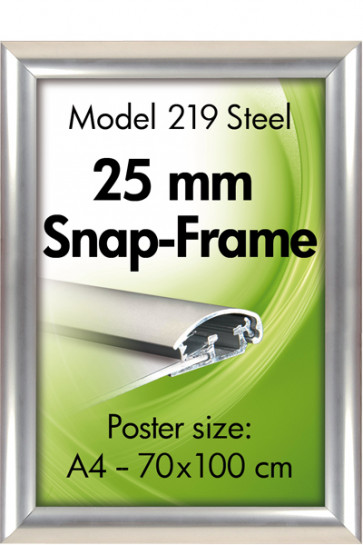 ALU SNAP FRAME 25mm (G) 50x70cm stainless steel