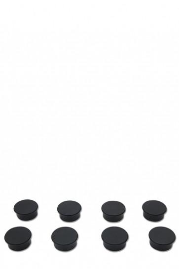 Magneter til f.eks. White Board. 8 stk. sorte