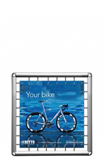 Omni Banner Frame, Banner str. 100x100cm. Inkl. krog m/elastik. Ekskl. eyelets