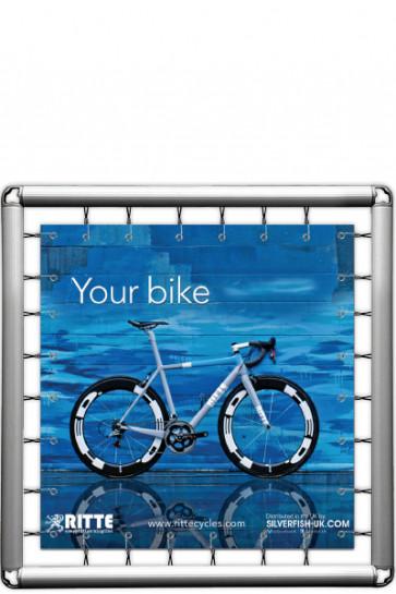 Omni Banner Frame, Banner str. 150x150cm. Inkl. krog m/elastik. Ekskl. eyelets