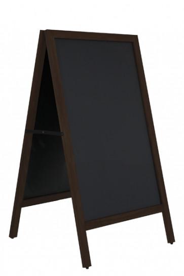 Wooden Pavement Sign with Steel Board 59x78cm - Sort bejdset bøg