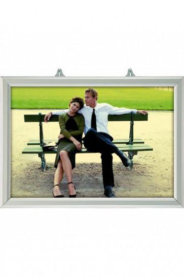 Slide-In Frame 25mm Horisontal A4 Alu