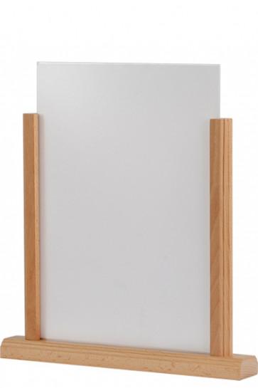 Wooden Menuholder, bøg, m/akryl holder A4