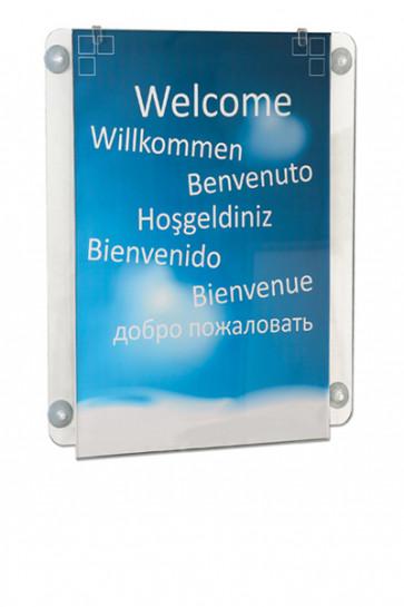 Window Frame med sugekop. Akryl. A4 Vertikal