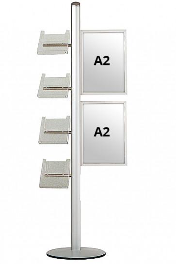 MULTISTAND 18 Enkeltsidet, 2xA2 Slide-in + 4xA4 Hylder