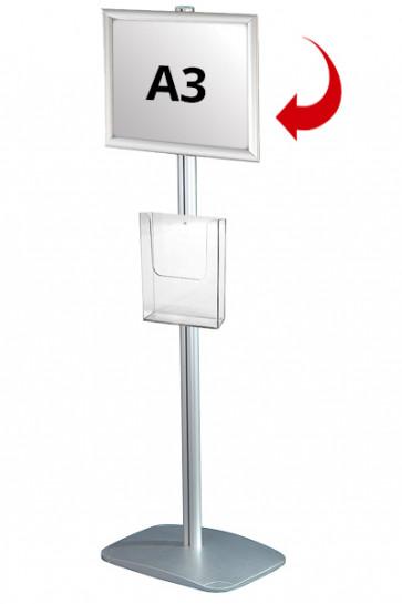 Mini Multistand 3 - Enkeltsidet A3 Snap Frame + A4 Brochureholder