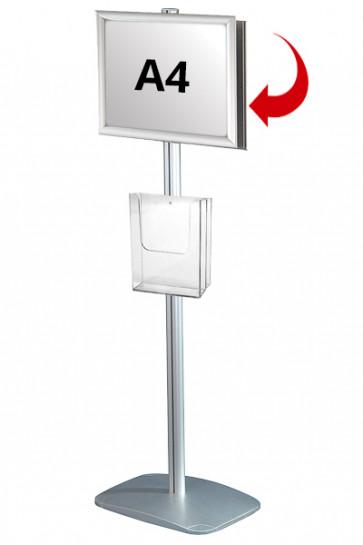 Mini Multistand 4 - Dobbeltsidet A4 Snap Frame + A4 Brochureholder