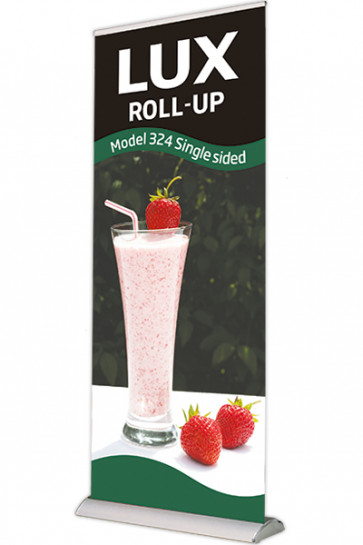 Lux Roll-up, Enkelt Model 120cm - alu (New Size 120cm)