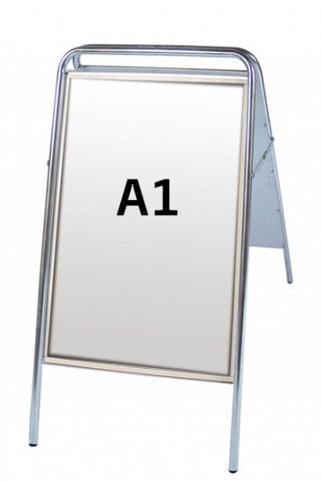 EXPO SIGN gadeskilt  22mm A1 sølv