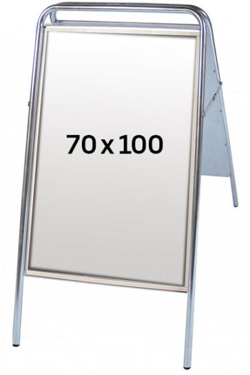 EXPO SIGN gadeskilt 22 mm 70x100 cm sølv