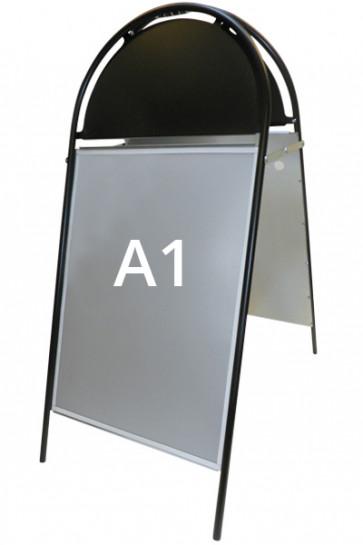 GOTIK Budget Gadeskilt 59,4x84,1cm   A1 sort