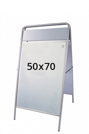 EXPO SIGN gadeskilt 22mm 50x70cm OD sølv