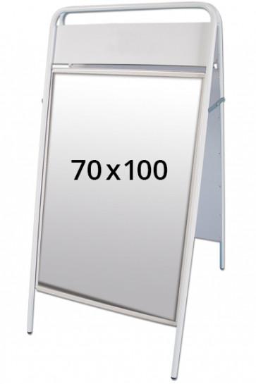 EXPO SIGN gadeskilt 22mm 70x100cm OD hvid