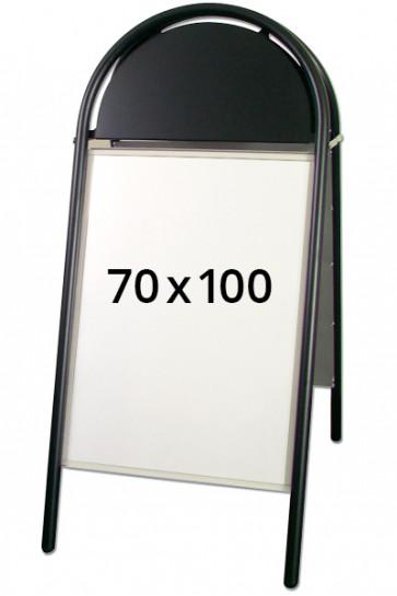 EXPO GOTIK LUX gadeskilt 32mm 70x100cm sort