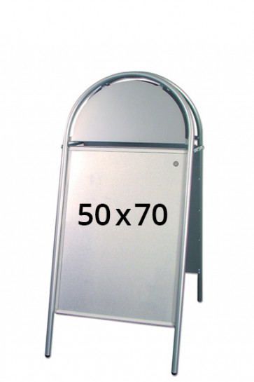 EXPO GOTIK gadeskilt 25mm 50x70cm sølv