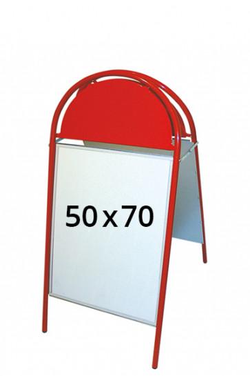EXPO GOTIK gadeskilt 25mm 50x70cm rød