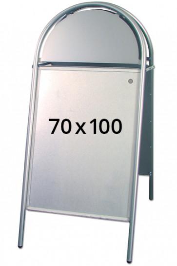 EXPO GOTIK gadeskilt 25mm 70x100cm sølv