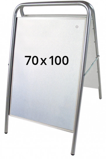 EXPO SIGN LUX gadeskilt 70x100cm sølv