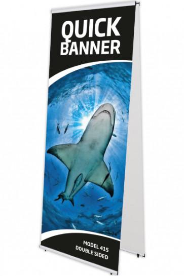 Taske til Quick Banner dobbelt 60cm sort