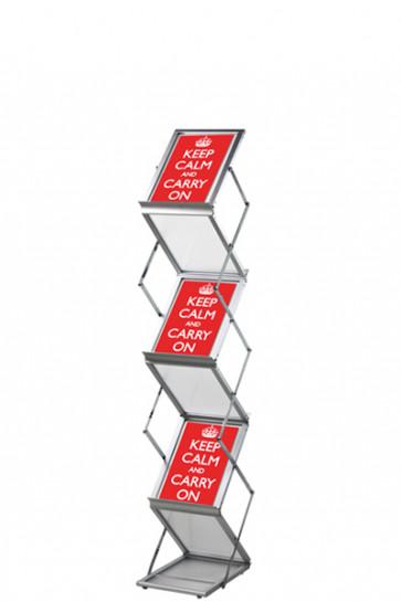 FLEX BROCHURE STAND 6 x A5 m/kuffert