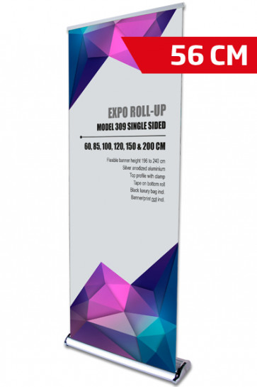 Expo Roll-up, Enkelt Model 56cm - alu