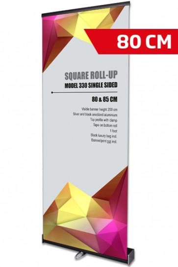 Square Roll-Up,  Sort,  Enkelt sidet, 80 cm (Sælges i 4 stk. karton)