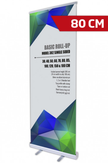 Basic Roll-up, Enkelt Model 80 - alu