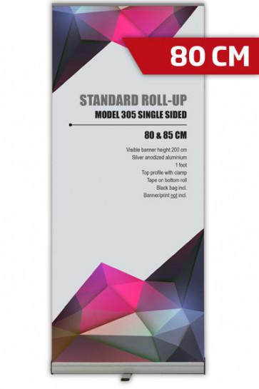 Standard Roll-up, 80cm, enkeltsidet - alu