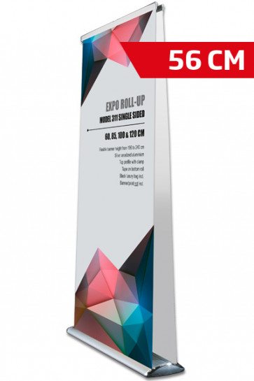 Expo Roll-up, Dobbelt Model 56cm - alu