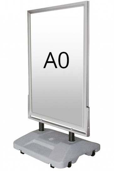 WIND-SIGN WATERBASE gadeskilt 45mm (G) A0 alu