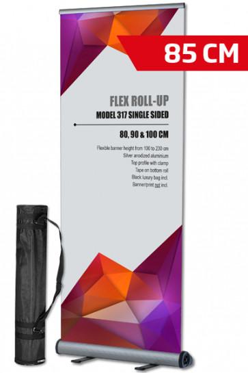 Flex Roll-up, enkelt 85x100-230cm alu - inkl. taske